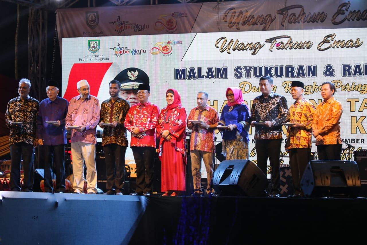 Kapolda Bengkulu Hadiri Syukuran dan Ramah Tamah HUT Provinsi Bengkulu Ke-50