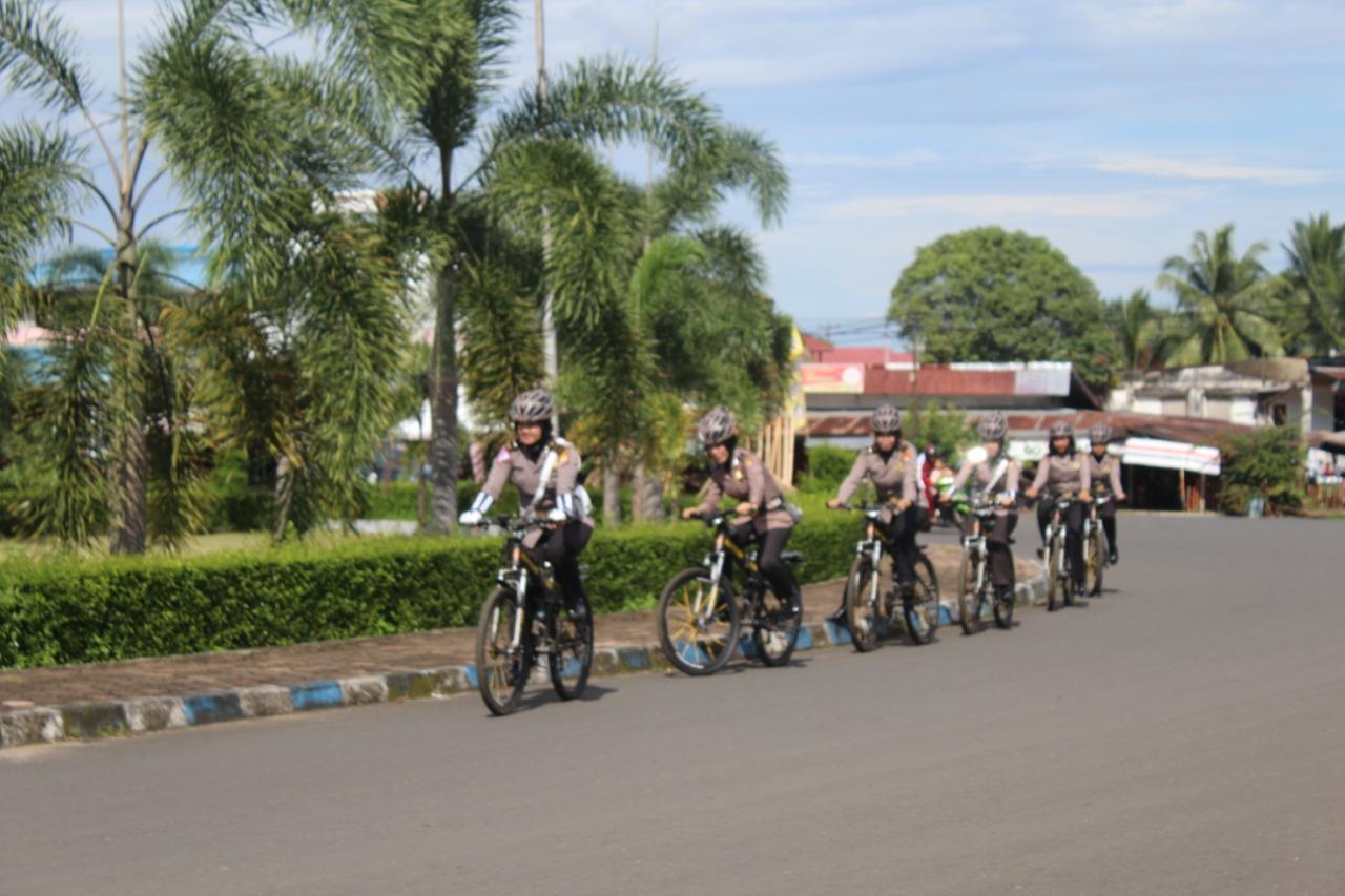 Dekatkan Diri Ke Masyarakat, Polres BU Tingkatkan Patroli Sepeda