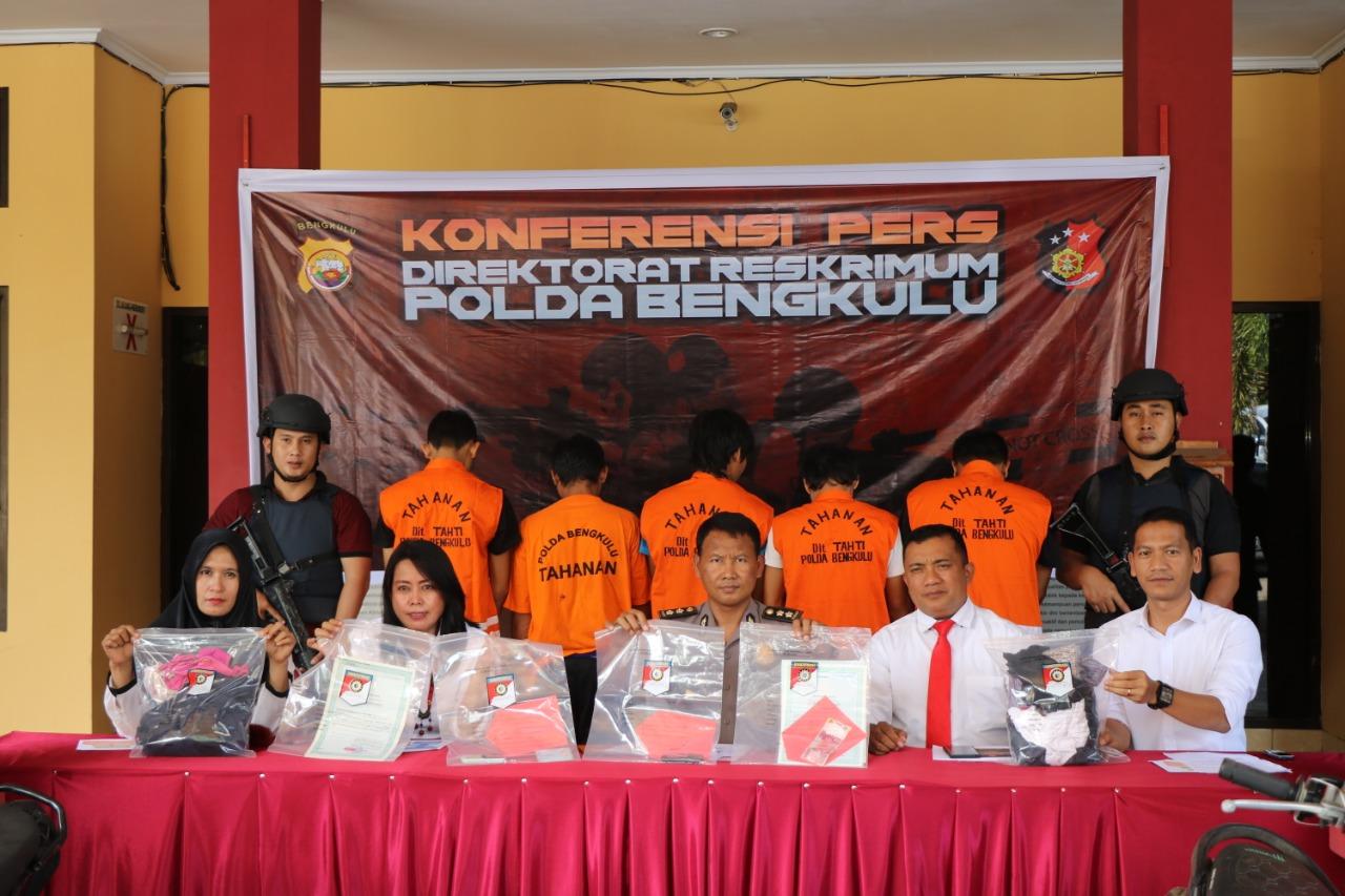 5 Tsk Eksploitasi Seksual Anak di Tangkap Unit PPA Polda Bengkulu
