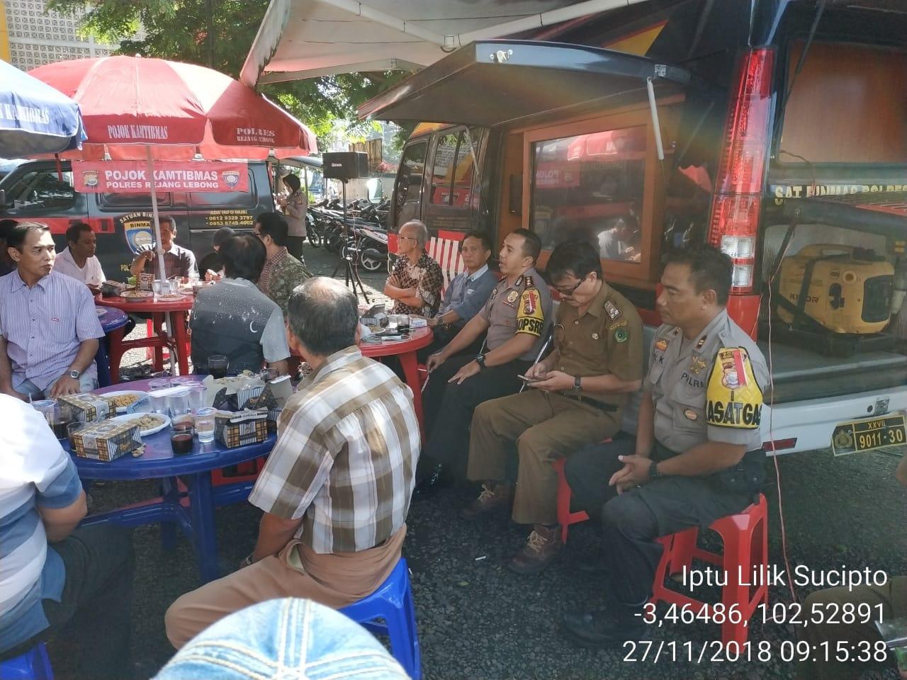 Coffe Morning Bersama Pedagang, Kapolres Rejang Lebong Ingatkan Pentingnya Koordinasi dan Pengadaan CCTV