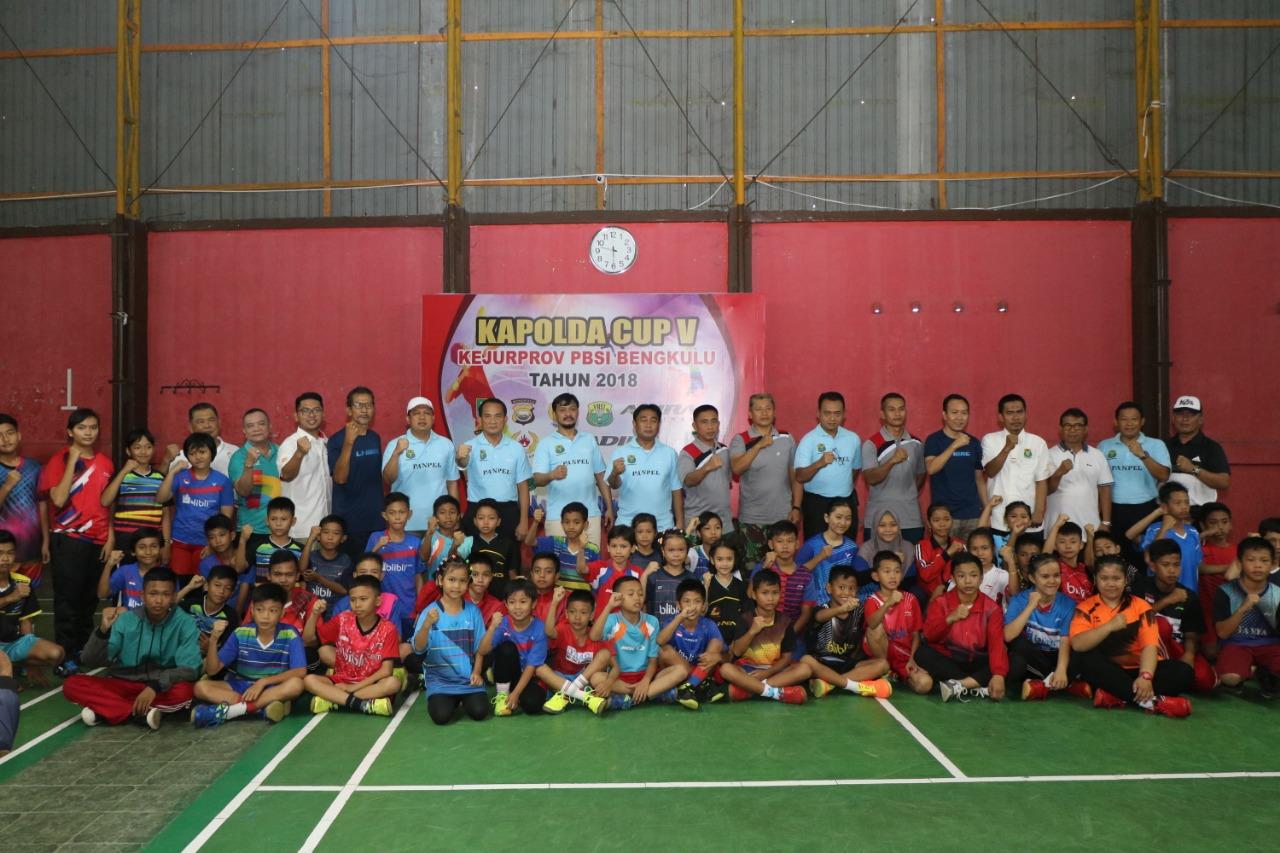 Kapolda Bengkulu Buka Secara Resmi Tournament Badminton Kapolda Cup V