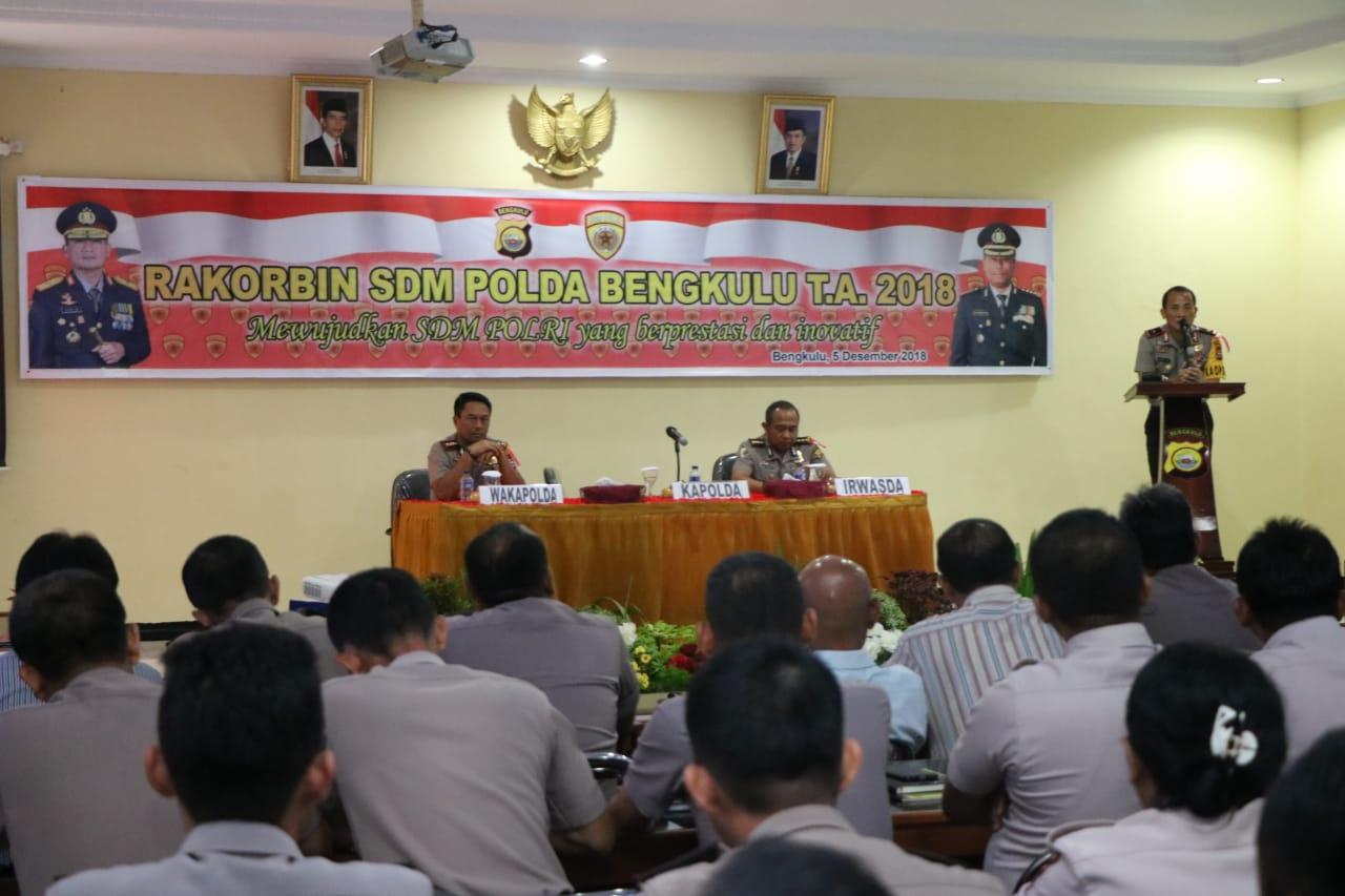 Ciptakan Polri yang Promoter, Biro SDM Polda Bengkulu Gelar Rakorbin