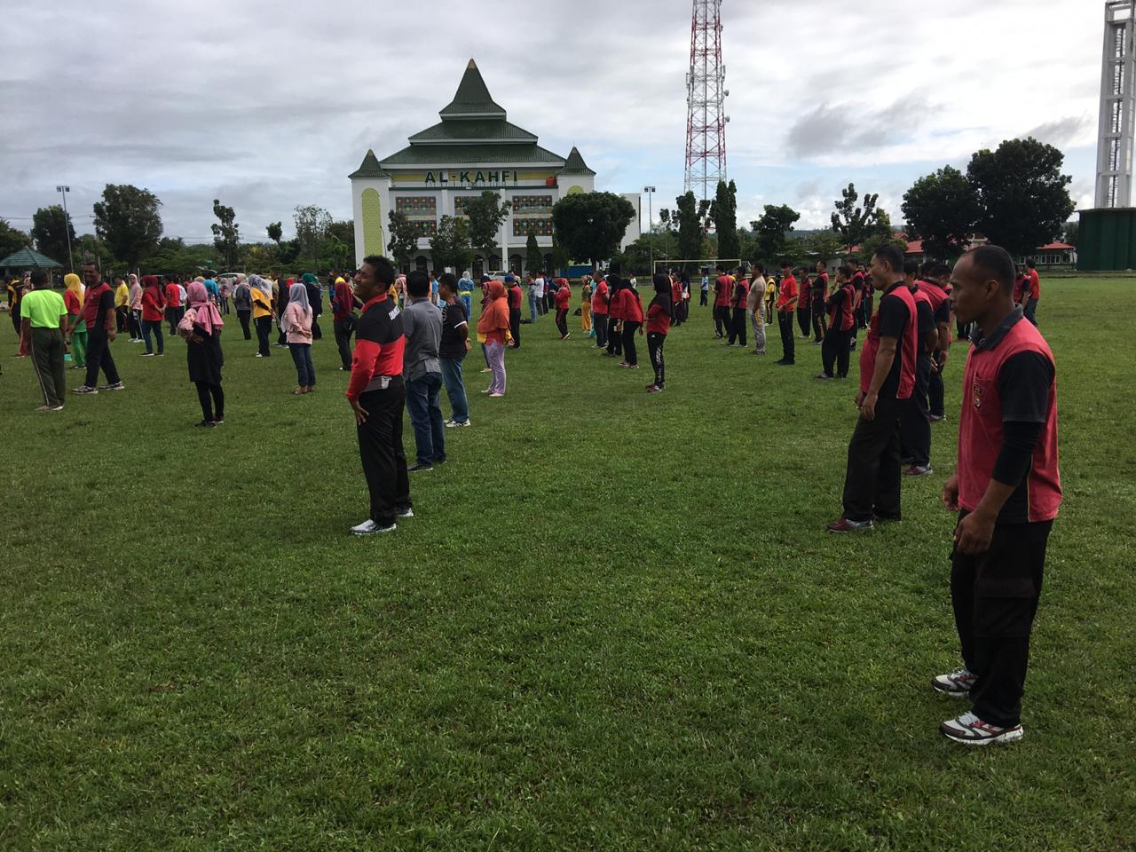 Olahraga Bersama di Kaur, Dinas Pariwisata Provinsi Bengkulu Kenalkan Senam Bekatak Kurak-Karik