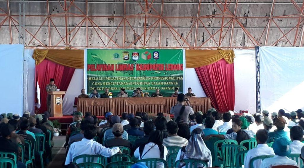 Sinergitas Untuk Sukseskan Pemilu 2019, Lebong Gelar Pelatihan Linmas