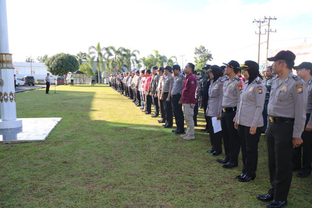 Pengamanan Pemilu, Polda Bengkulu Gelar Apel Siaga di Hari Minggu