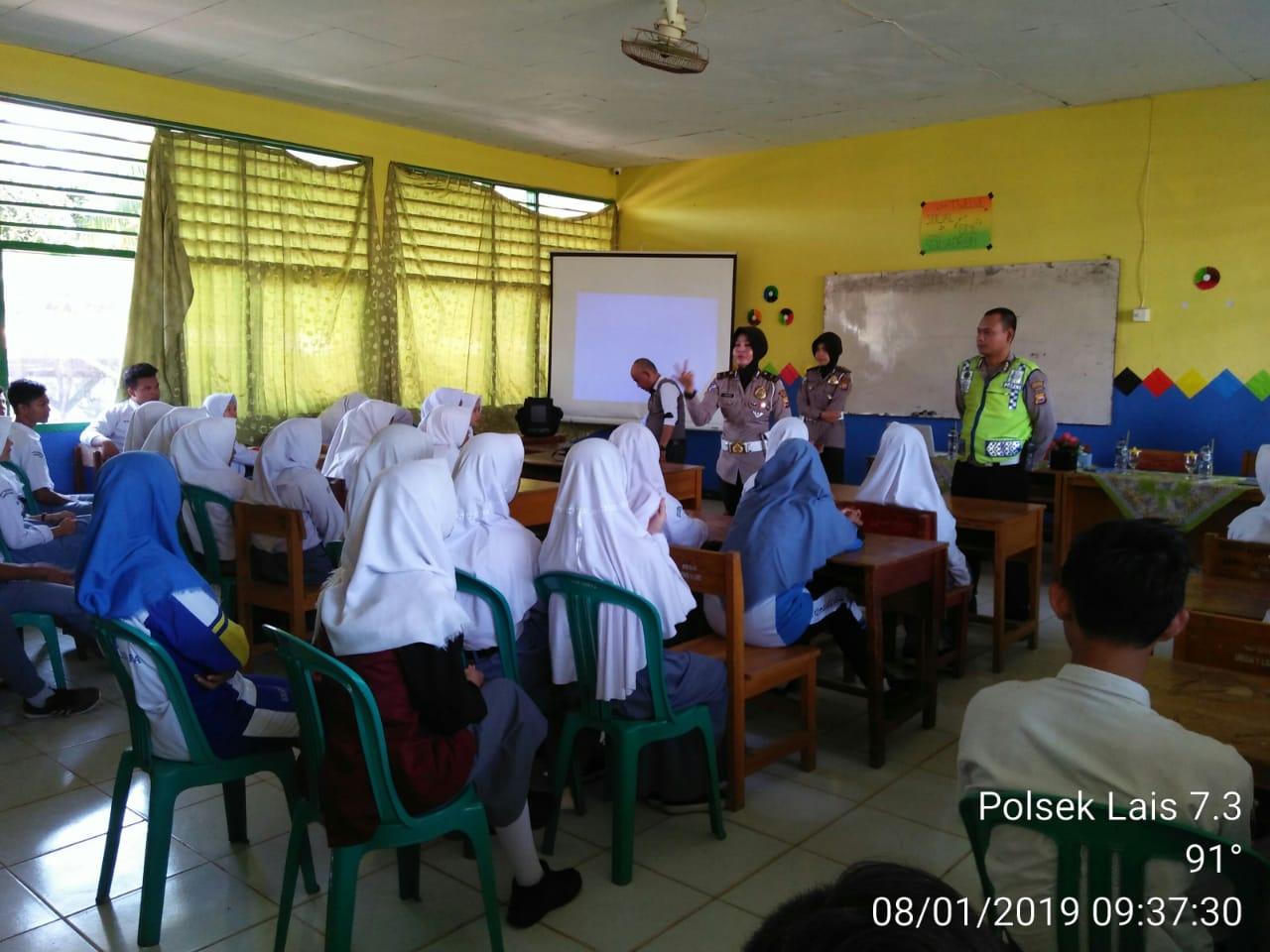 Peduli Keselamatan Berlalulintas, Sat Lantas Bengkulu Utara Sosialisasi Kesekolah-sekolah