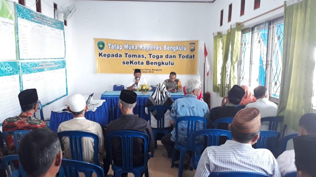 Tatap Muka Kapolres Bengkulu Bersama Tokoh Masyarakat, Agama dan Adat Kecamatan Sungai Serut