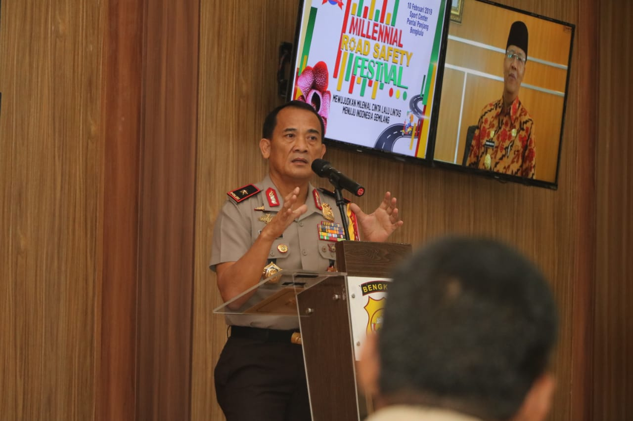 Kapolda Bengkulu Buka Rakor Eksternal  Kesiapan Millenial Road Safety Festival