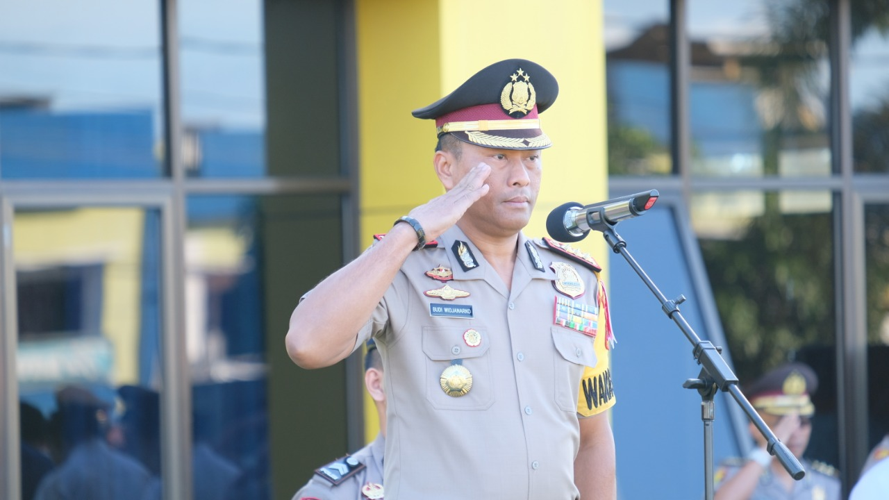 Foto: Rangkaian Upacara Bulanan Polda Bengkulu