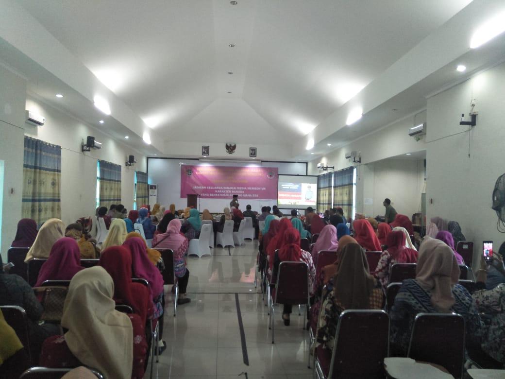 Pertemuan Ikawati BPN Provinsi Bengkulu, Kanit Bin Kamsa Sampaikan Binluh Revolusi Mental dan Karakter