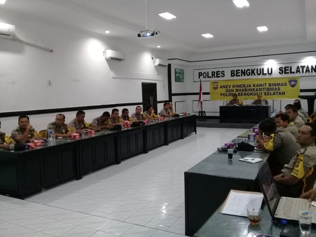 Kapolres Bengkulu Selatan Anev Kinerja Kanit Binmas dan Bhabinkamtibmas Polsek Jajaran