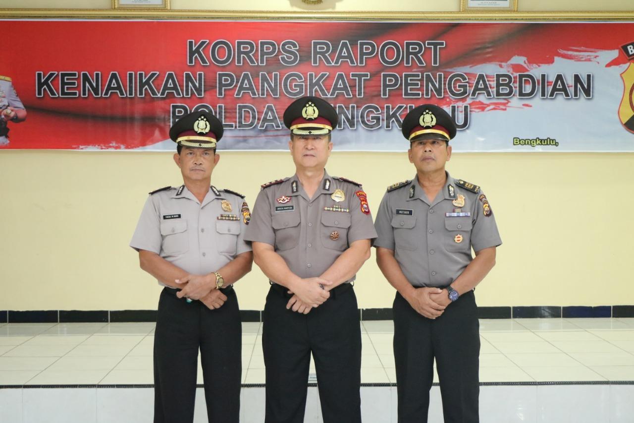 3 Perwira Polda Bengkulu Resmi Naik Pangkat