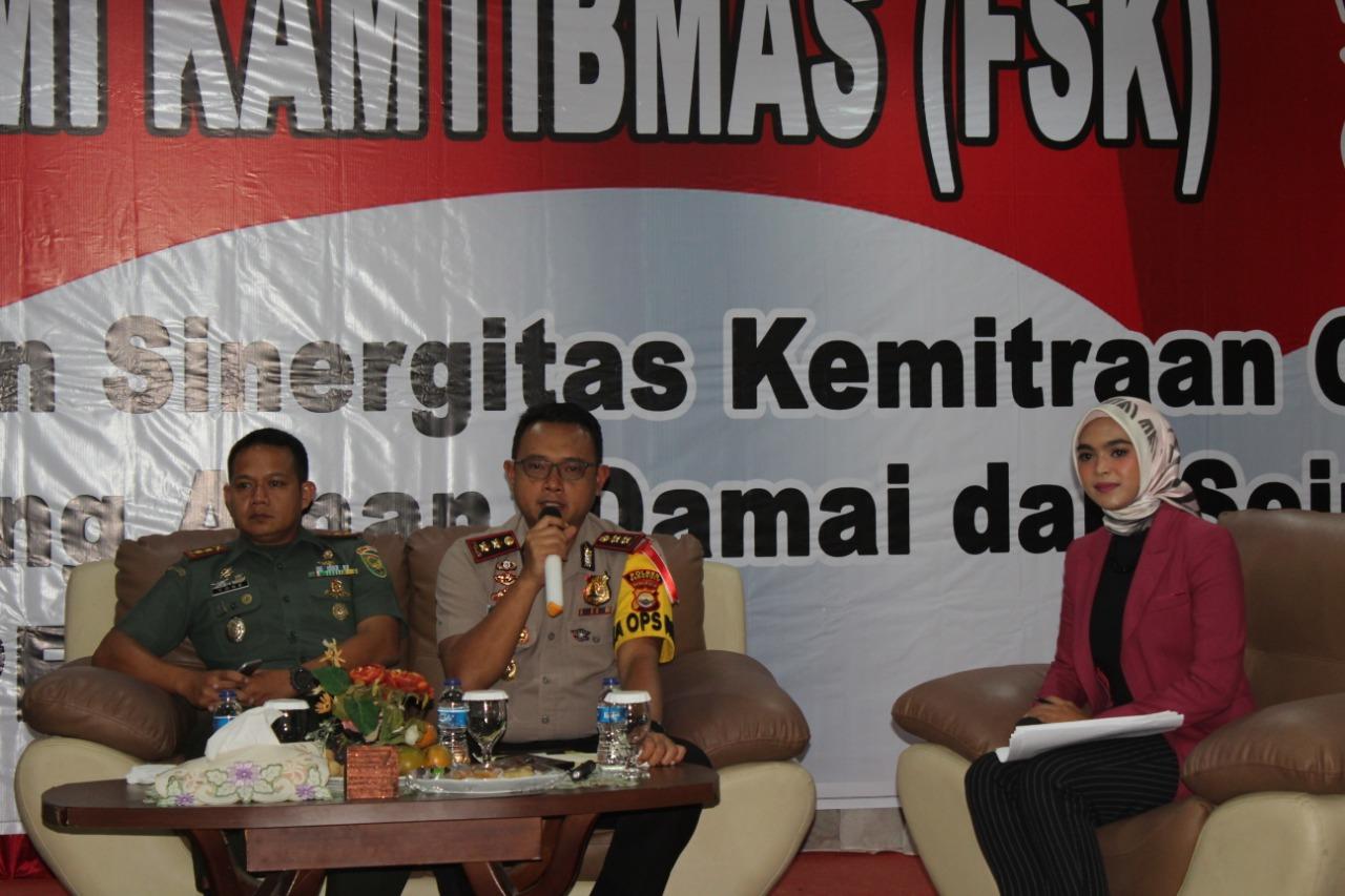 Gelar FSK, Polres Bengkulu Himbau Sukseskan Pemilu yang Aman, Damai dan Sejuk