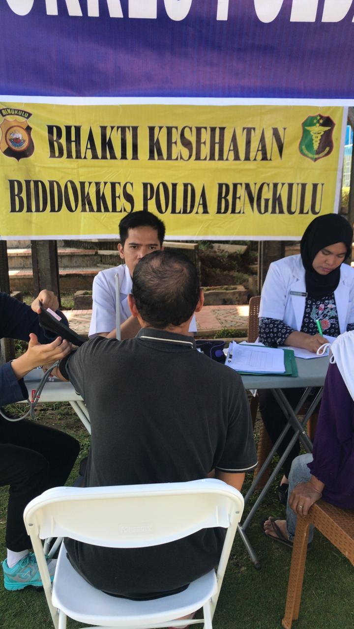 Tingkatkan Pelayanan, BidDokkes Polda Bengkulu Gelar Bakti Kesehatan