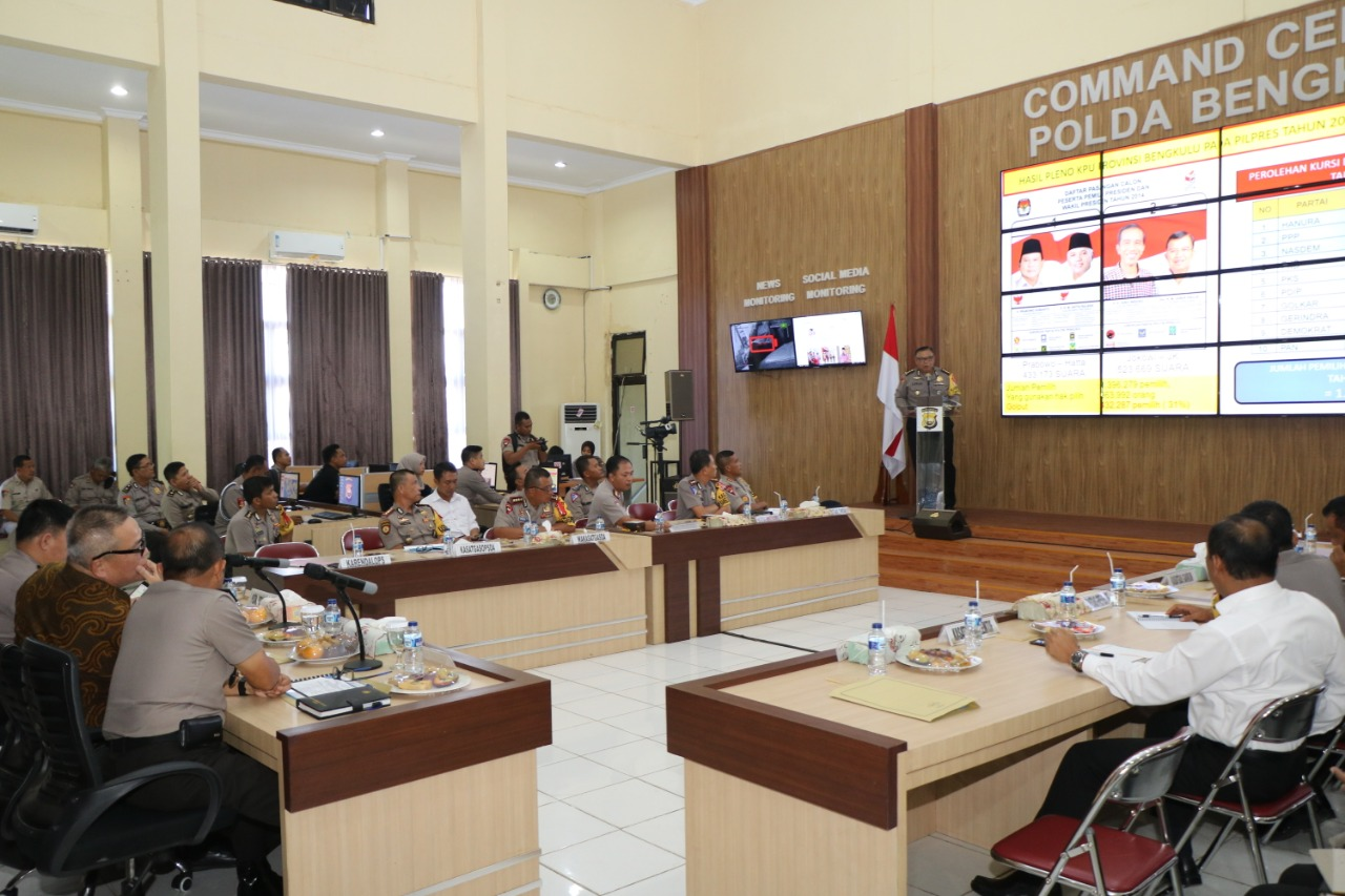 Sambut Kedatangan Kompolnas, Polda Bengkulu Gelar Paparan Kesiapan Pengamanan Pemilu 2019