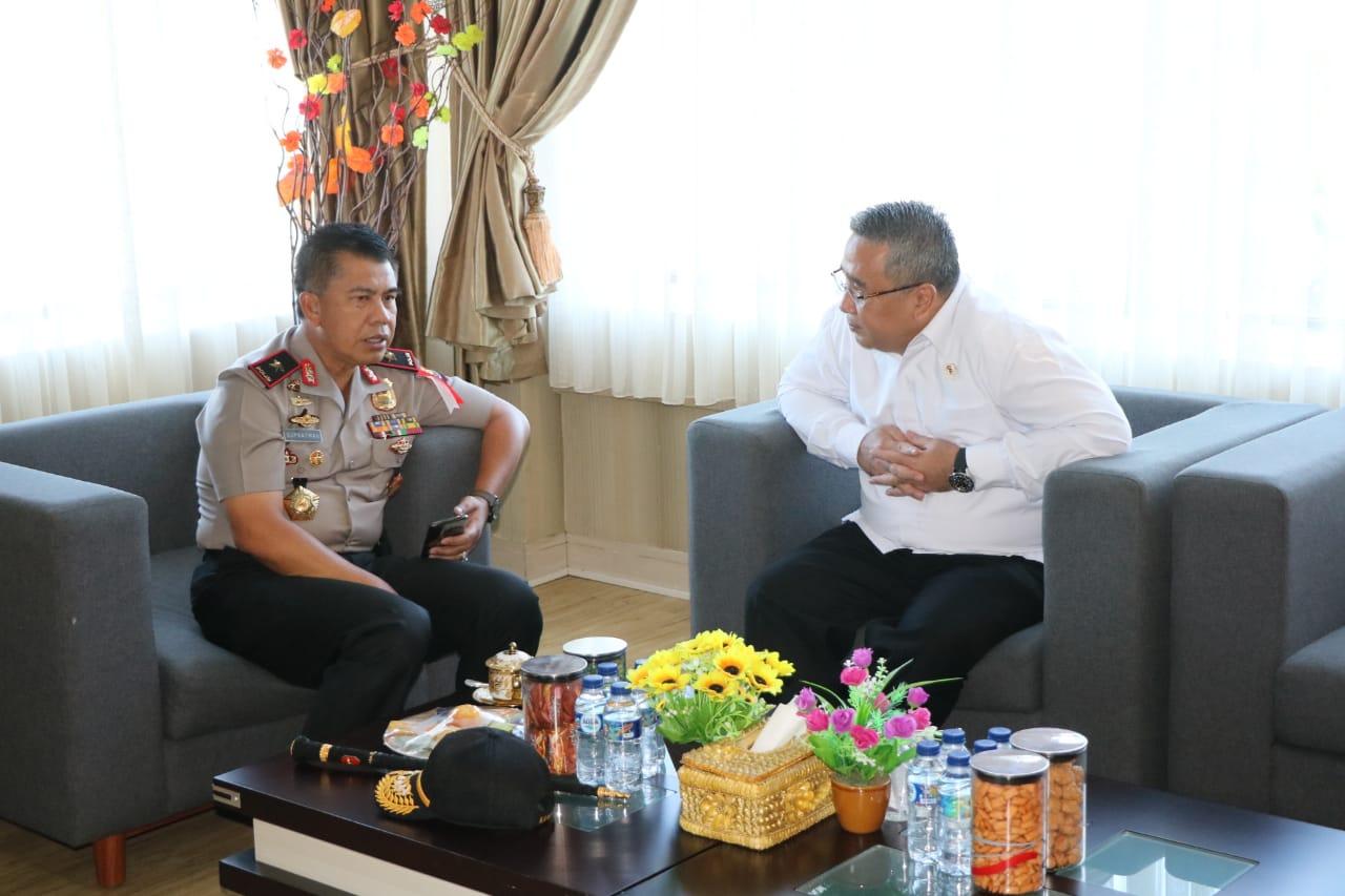 Kapolda Bengkulu Terima Kunjungan Menteri PDT