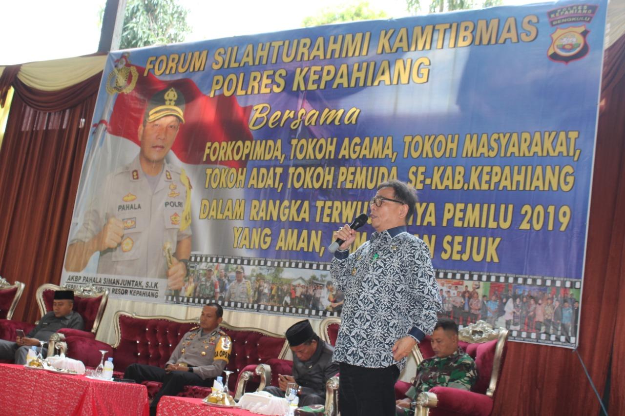 Sukseskan Pemilu 2019, Polres Kepahiang Gelar Forum Silaturahmi