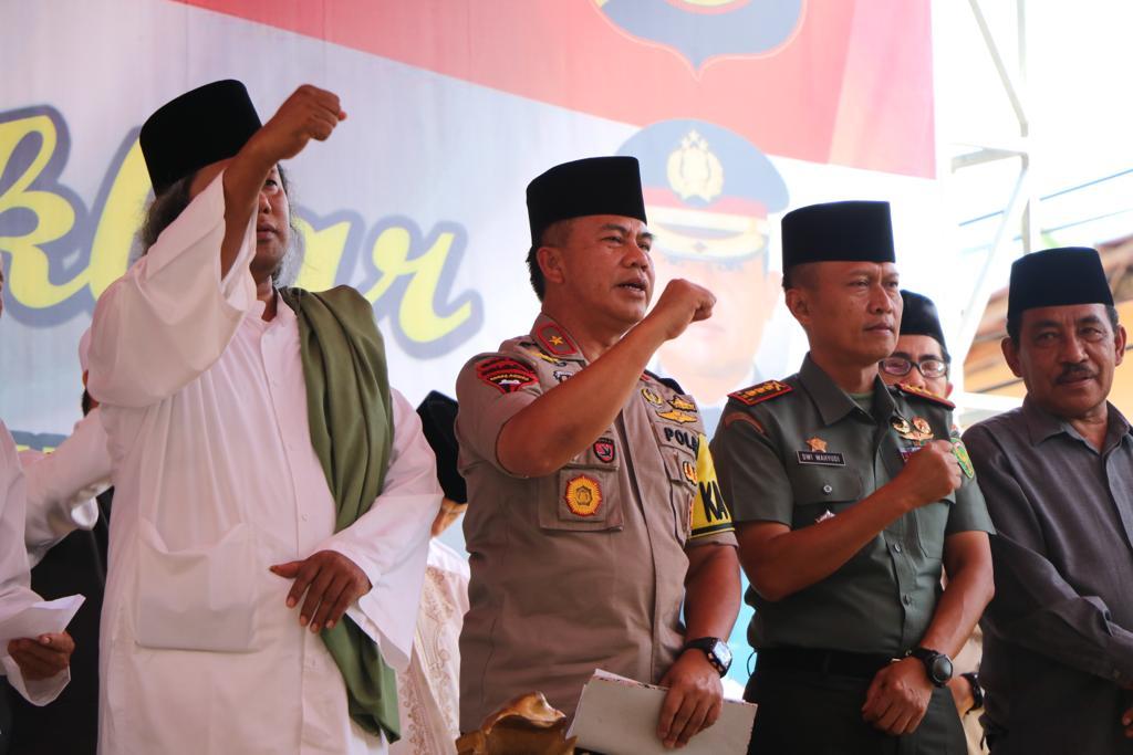 Jaga Kondusitifitas Kamtibmas, Polres Bengkulu Gelar Istighosah dan Tabligh Akbar