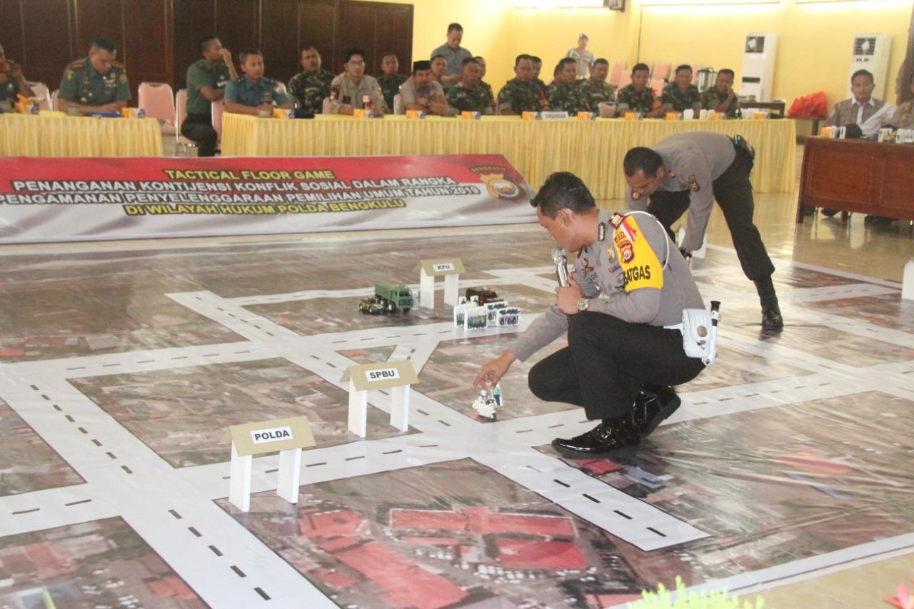 Polda Bengkulu Gelar Latihan TFG Sispamkota Jelang Pemilu 2019