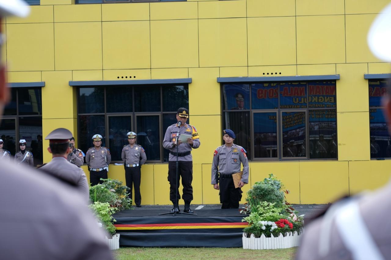 Apel Gelar Pasukan Operasi Keselamatan Polda Bengkulu