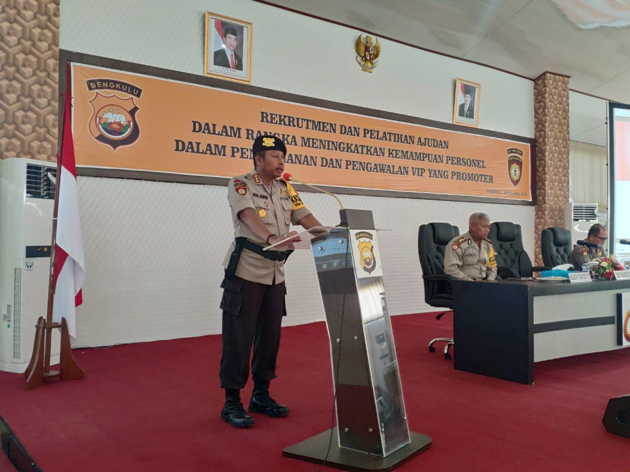 Rekrutmen dan Pelatihan Ajudan Polda Bengkulu