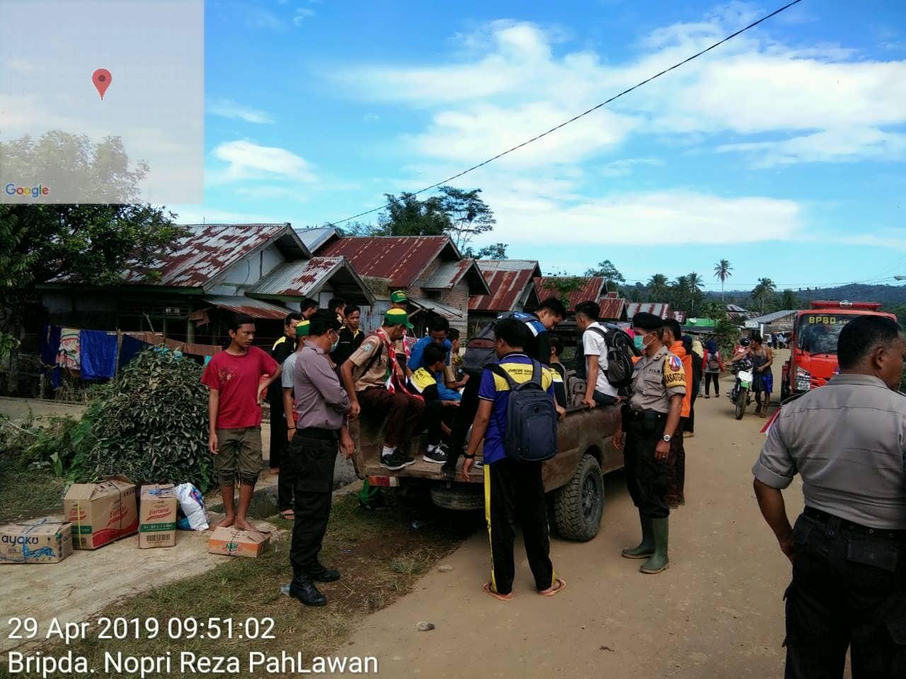 Bencana Banjir, Polres Kepahiang Beri Bantuan dan Dirikan Posko Siaga Bencana