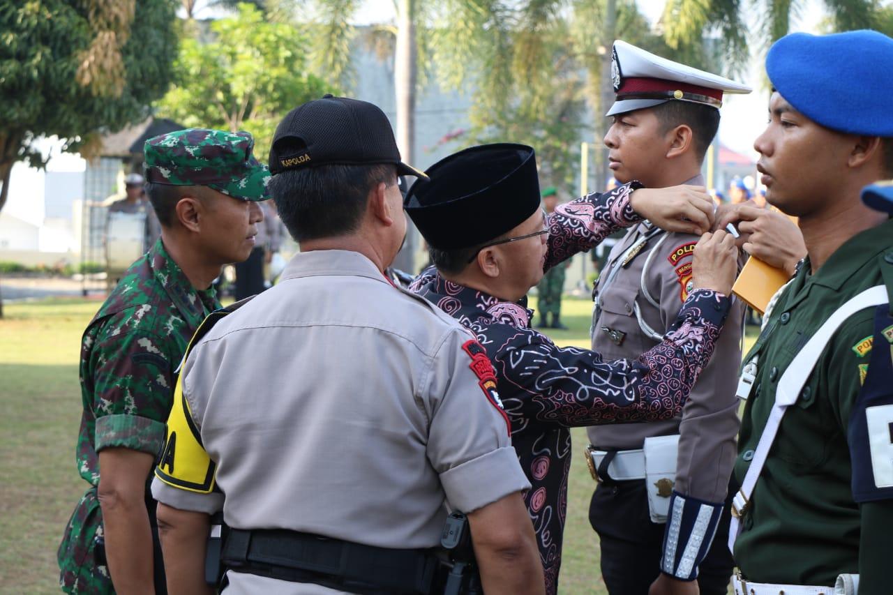 Bersama Gubernur Dan Danrem, Kapolda Bengkulu Pimpin Gelar Pasukan Ops Ketupat