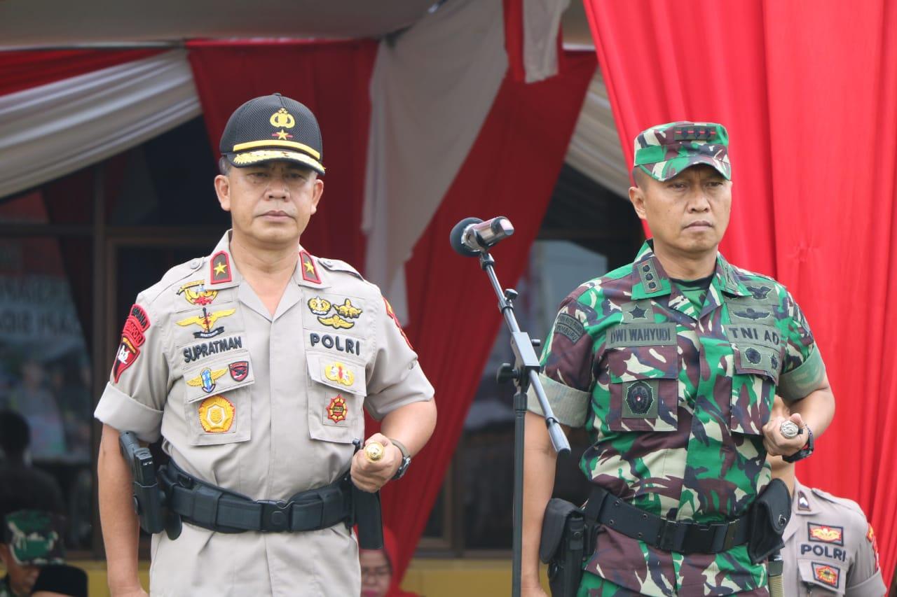 Kapolda Bengkulu dan Danrem 041/Gamas Pimpin Apel Konsolidasi Ops Ketupat Nala 2019