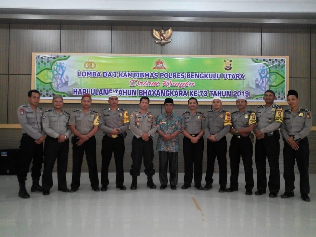 HUT Bhayangkara, Polda Bengkulu Gelar Lomba Dai Kamtibmas