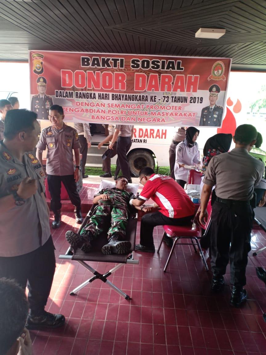 HUT Bhayangkara, Polres Bengkulu Selatan Gelar Donor Darah