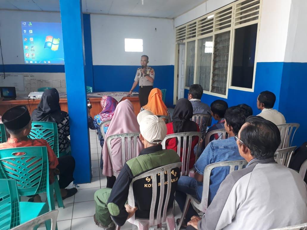 Ajak Masyarakat Jaga Kamtibmas, Polres Bengkulu Gelar Binluh di Kantor Lurah Padang Jati