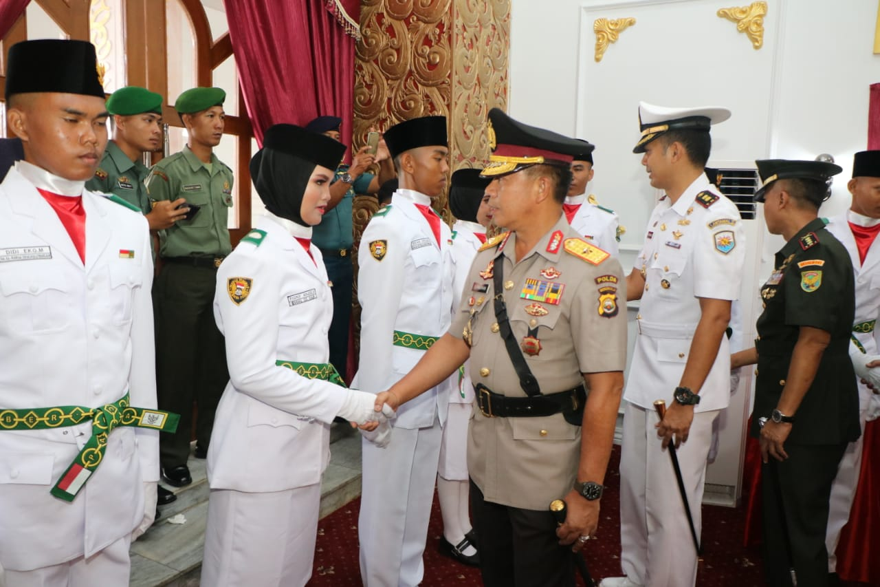 Kapolda Bengkulu Hadiri Pengukuhan 54 Paskibraka Provinsi