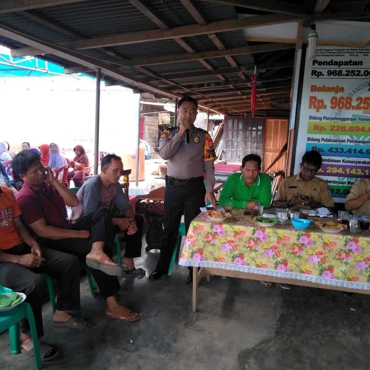 Musdes RKP Desa Coko Enau, Ini Pesan Anggota Bhabinkamtibmas