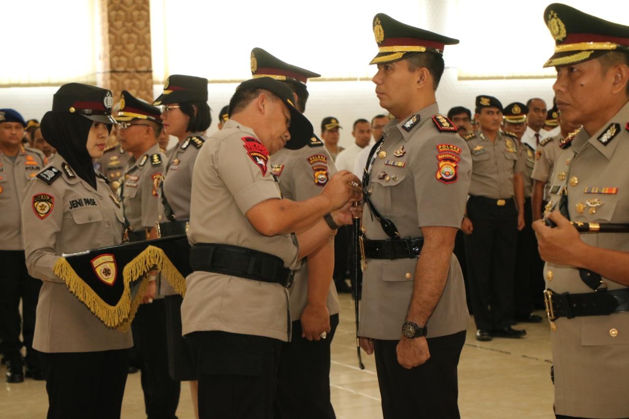 Kapolda Bengkulu Pimpin Sertijab Kabid Dokkes Dan 2 Kapolres