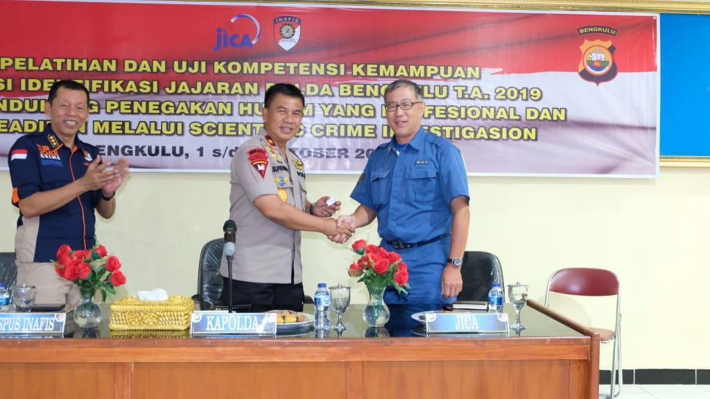 Bekerjasama Dengan Kepolisian Jepang (JICA). Kapolda Bengkulu Buka Pelatihan Fungsi Identifikasi