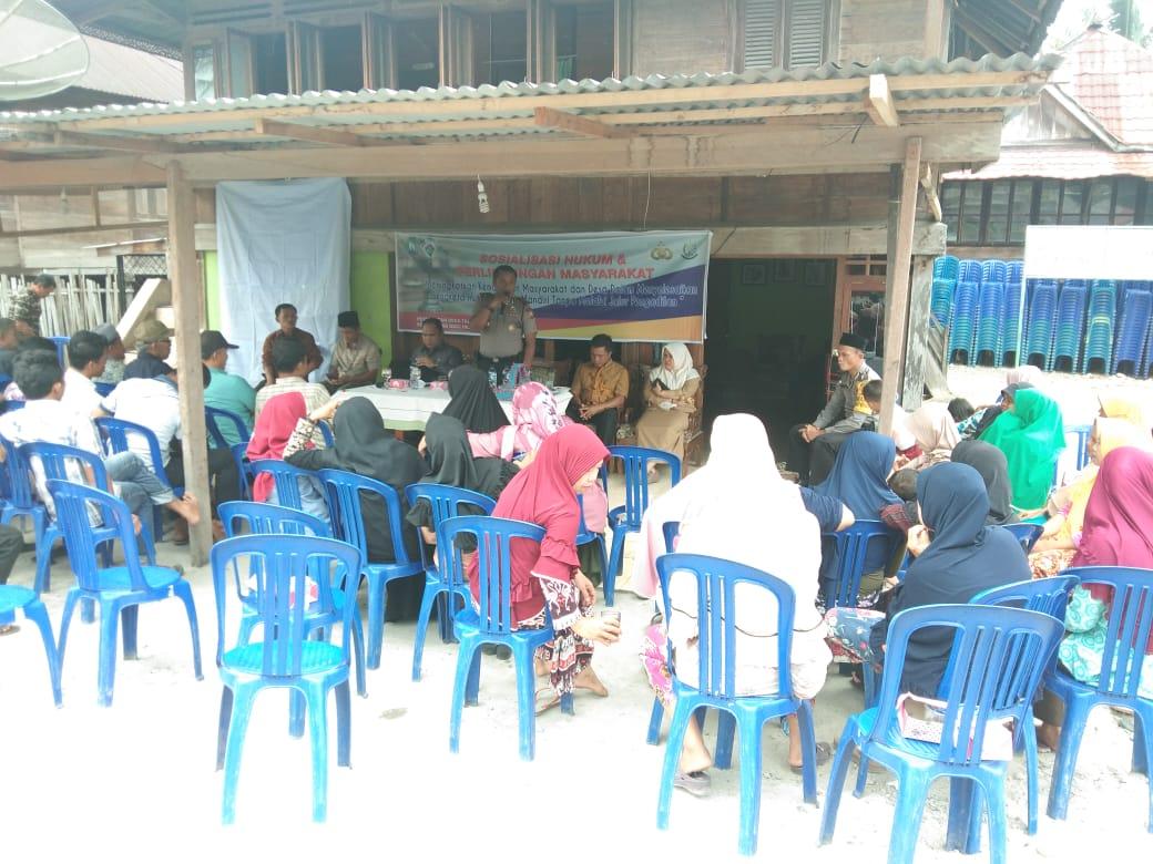 Kapolsek Kaur Utara Jadi Narasumber Sosialisasi Hukum Bersama Inspektorat dan Kejari Kaur