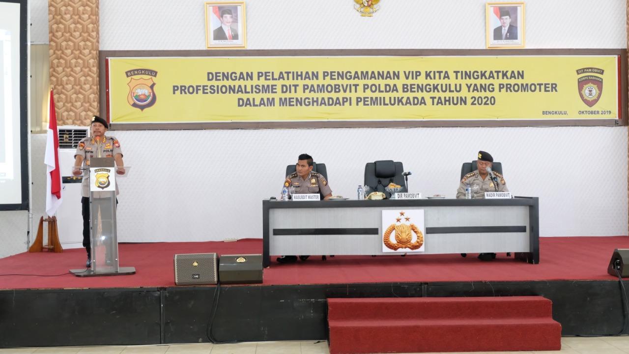Dir Pamobvit Buka Pelatihan Pengamanan VIP Jelang Pemilukada 2020