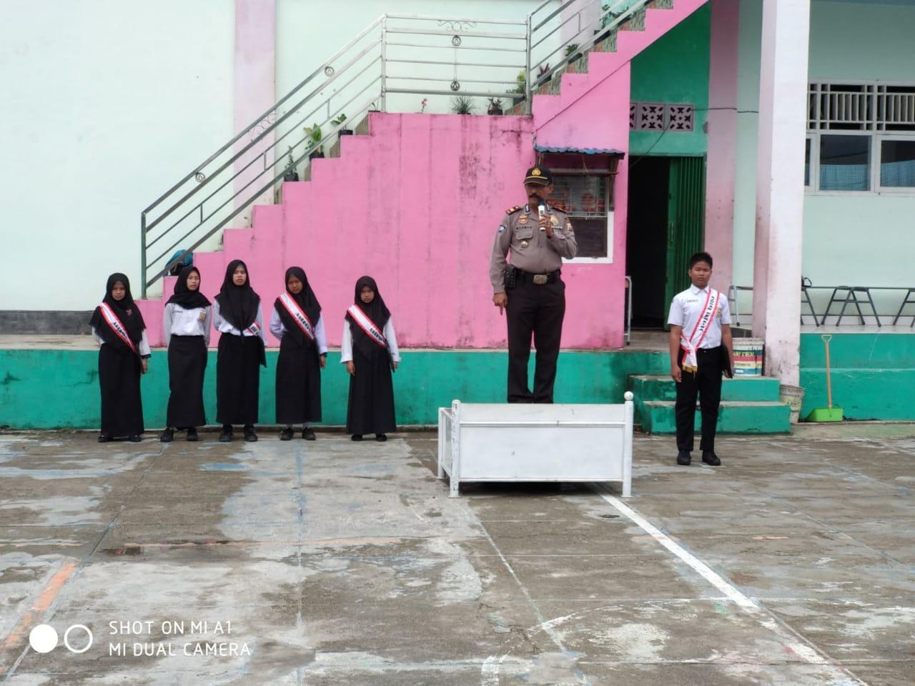 Irup di SMK Muhammadiyah Lebong, Kasat Binmas Sampaikan Wawasan Kebangsaan