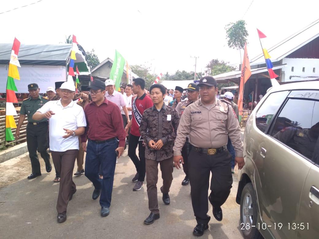Gubernur Tinjau Titik Nol Pembangunan di Kecamatan Kaur Utara, Anggota Polsek dan Koramil Kompak Lakukan Pengamanan