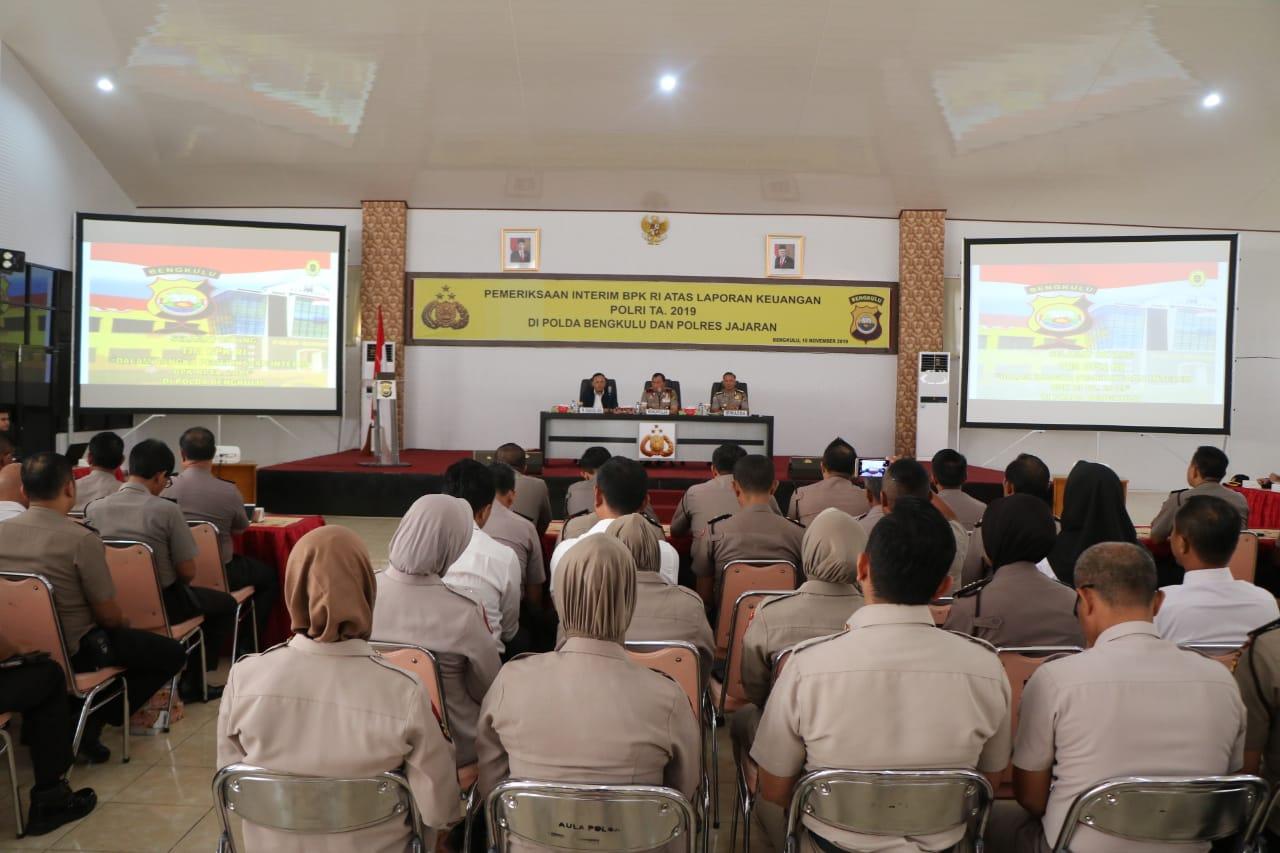 Wakapolda Bengkulu Buka Acara Pemeriksaan Interim BPK-RI