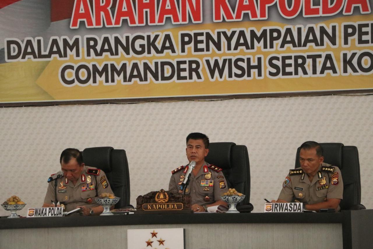 Kapolda Bengkulu Sampaikan Penyampaian Presiden RI Dan Commander Wish Komitmen Kapolri