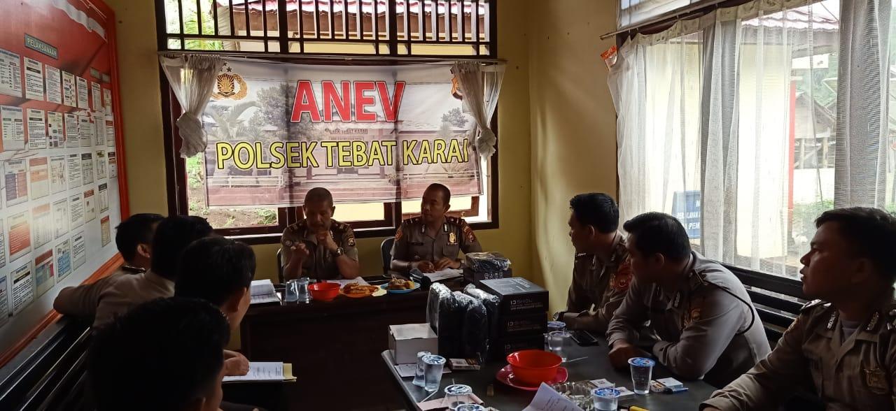 Sosialisasi Laporan Online, Kasat Binmas Kunker Polsek Jajaran