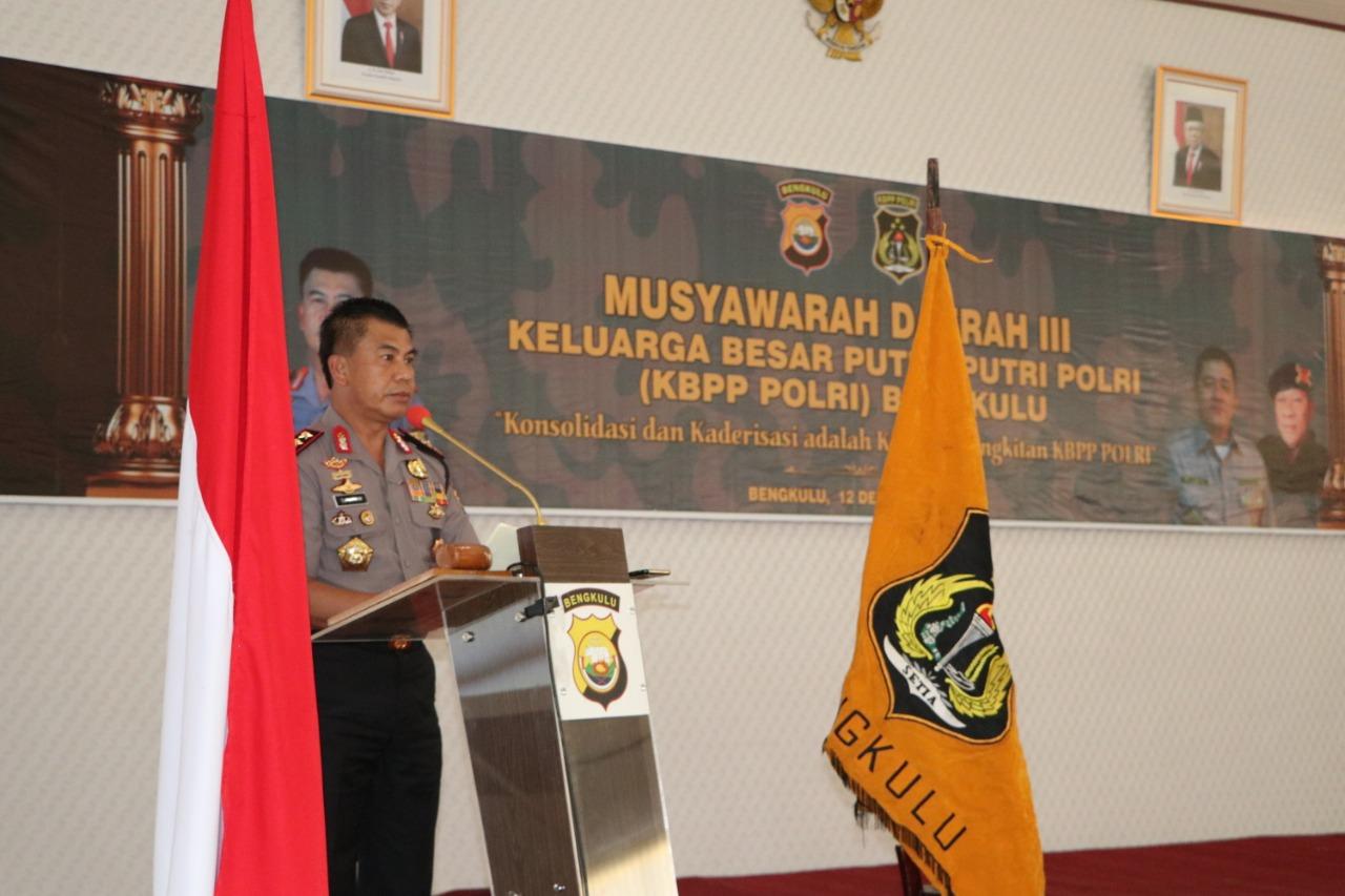 Buka Musda III KBPP Polri Daerah Bengkulu, Ini 4 Pesan Kapolda