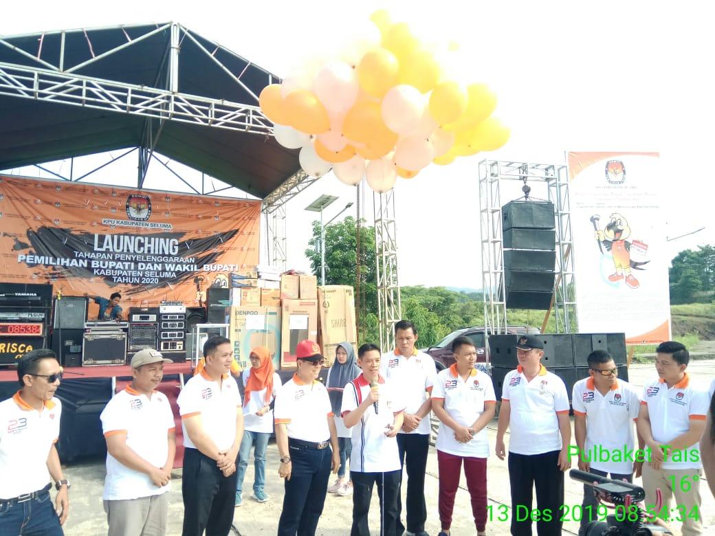 Launching Tahapan Pemilukada Kabupaten Seluma, Polres Seluma Gelar Pengamanan