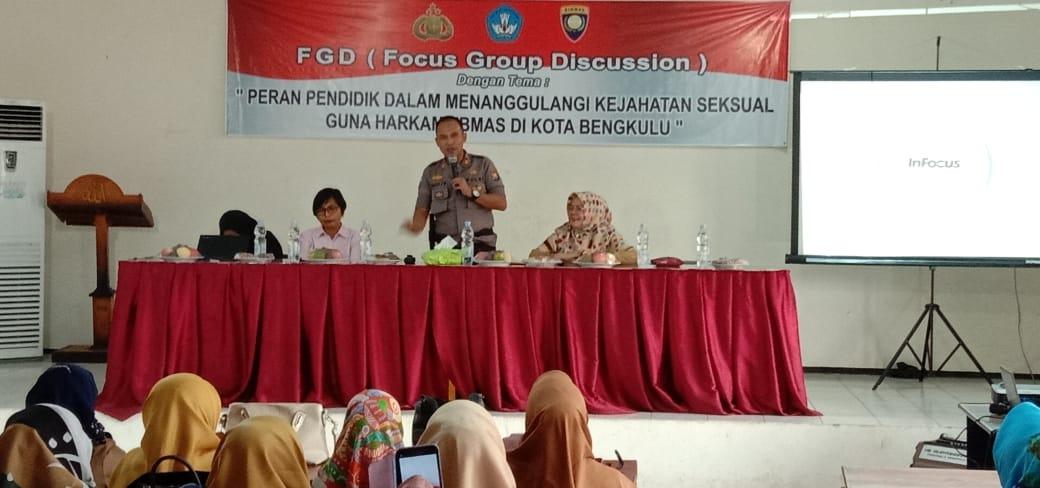 Cegah Kejahatan Seksual, Polres Bengkulu Gelar FGD Bersama Dinas Pendidikan