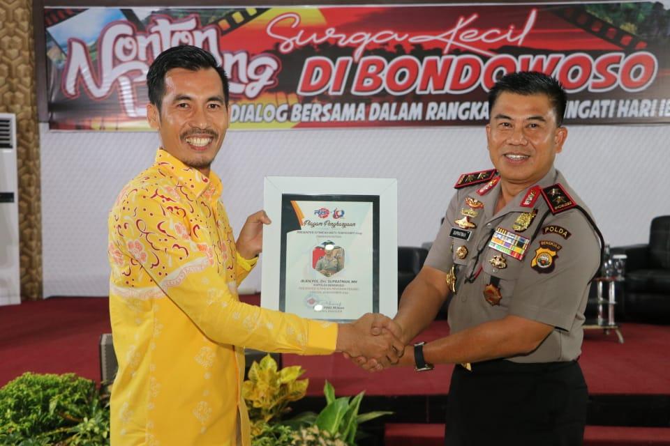 Kapolda Bengkulu Jadi Presenter Istimewa RBTV Terfavorit 2019