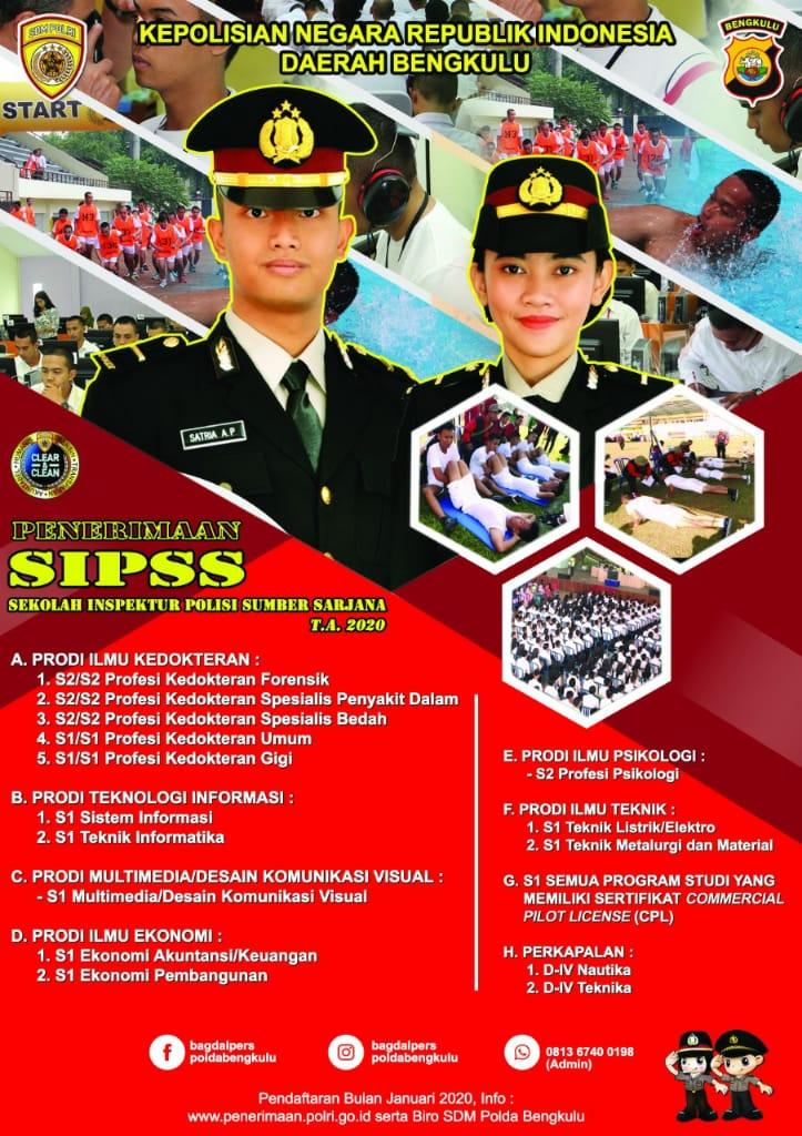 Penerimaan SIPSS Polri Akan Segera Dibuka, Ini Prodi Yang Dibutuhkan!