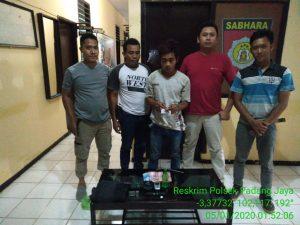 Polsek Padang Jaya Tangkap Bandar Sabu