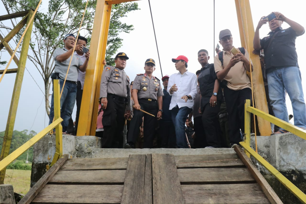 Kapolda Bengkulu Datangi Lokasi Musibah Jembatan Putus di Kaur