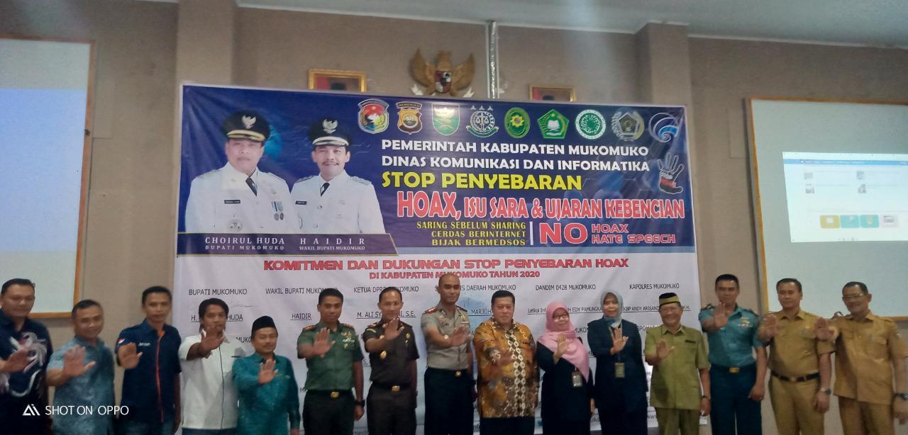 Kabupaten Mukomuko Deklarasi Lawan Hoax, Isu SARA dan Ujaran Kebencian